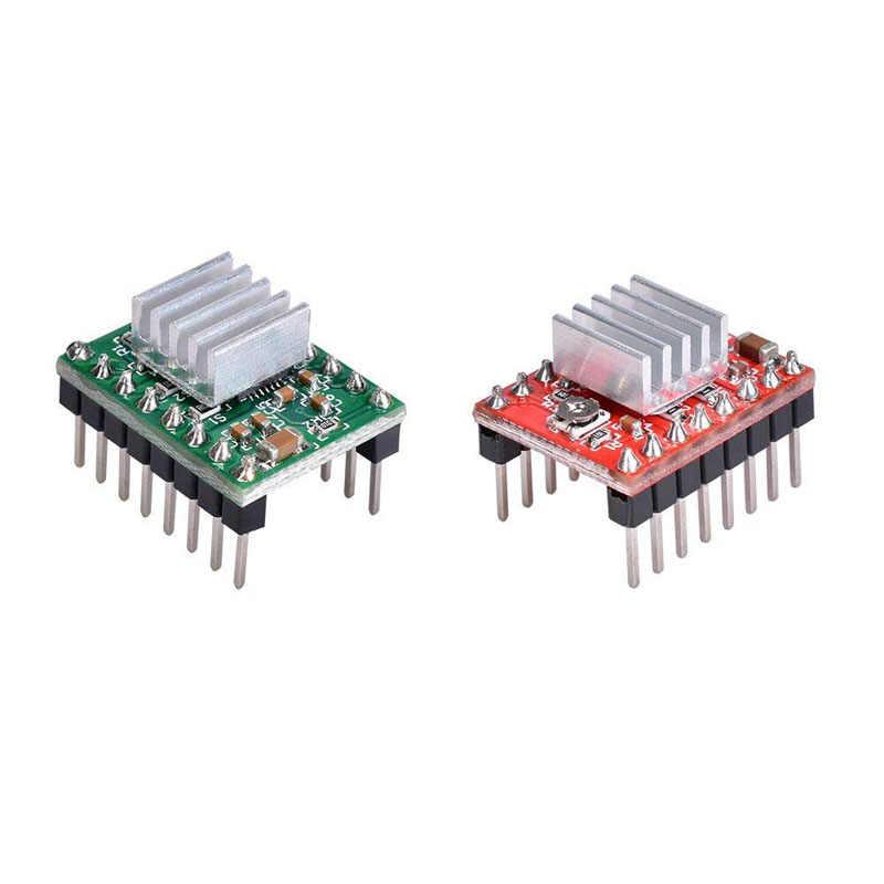3d принтер части StepStick A4988 4988 шаговый двигатель Драйвер Красный Зеленый Ramps 1,4 Reprap с радиатором