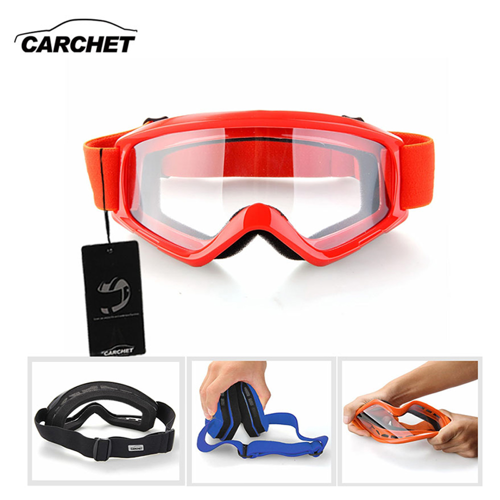 CARCHET Motorcycle Goggles Motocross Outdoor Sport Glasses Windproof Motor Off Road ATV Dirt Bike Helmet Eye Protection Goggle