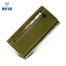 Wholesale First Layer Of Cowhide Female Wallets Zipper Genuine Leather Long Design Lovers Men/Women Wallets Mobile phone clutch стоимость