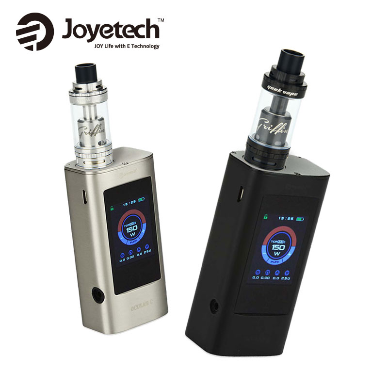 Original 150W Joyetech Ocular C Vape Mod For GeekVape Griffin 25 RTA Top Airflow Tank 6ml Vs Ocular C Box Mod 150W E Cigarettes vandy vape kylin rta