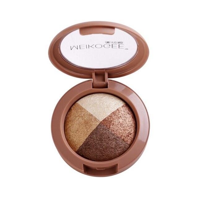 Для женщин пикантные водостойкий макияж для глаз Shimmer перламутровые противень запеченные тени для век 4 цвета