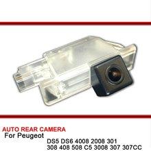 Dla Peugeot DS5 DS6 4008 2008 301 308 408 508 C5 3008 307 307CC HD CCD Parking samochodowy rewers Backup widok z tyłu kamera Night Vision