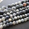 """15.5 """"Natural Pulsera De Cuentas De Piedra 6 8 10mm Negro Color Ahumado Bosi Jade piedra granos de la manera para la joyería haciendo"""