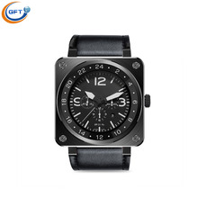 Gft us18 smart watch hrm echt herzfrequenz bluetooth lederarmband smartwatch für ios android männer business armbanduhr