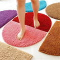 Half Round Style Door Carpet Anti Slip Proof Mats Bathroom Rugs for Living Room Bathroom Circle Mat Kitchen Rug Solid Color B19