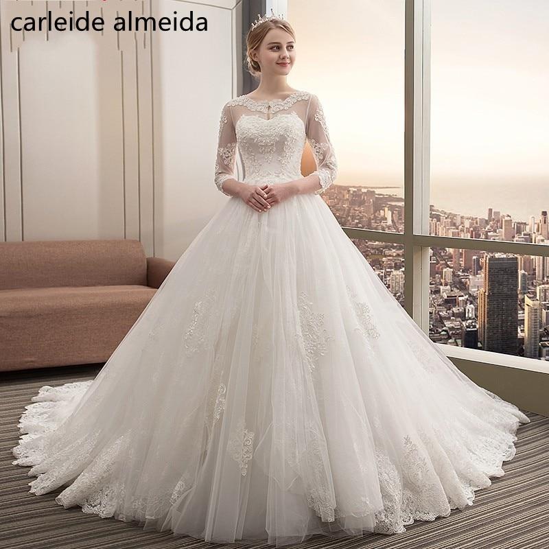 Vestido de Noiva Scoop Vestido de Boda Vestido 2018 Tulle y Encaje - Vestidos de novia