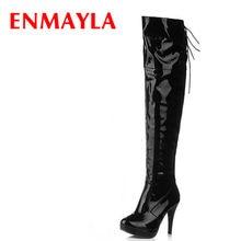 b683e33b ENMAYLA otoño botas altas por encima de la rodilla largo botas de plataforma  de las mujeres