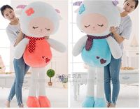 large sheep toy beauty sheep plush toy scarf sheep doll soft hugging pillow toy birthday gift b9853