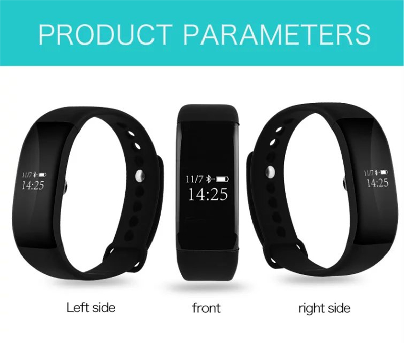 SZMUGUA 5pcs Bluetooth Bracelet With IP68 Waterproof Heart Rate Monitor Wristband Smart Wristband For IOS Android Smart BandSZMUGUA 5pcs Bluetooth Bracelet With IP68 Waterproof Heart Rate Monitor Wristband Smart Wristband For IOS Android Smart Band