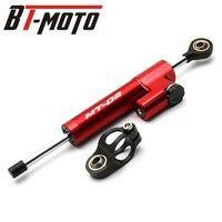 CNC Aluminum MT03 LOGO Motorcycle Damper Steering Stabilize Safety Control For YAMAHA MT03 MT 03 MT 03 2005 2006 2015 2017