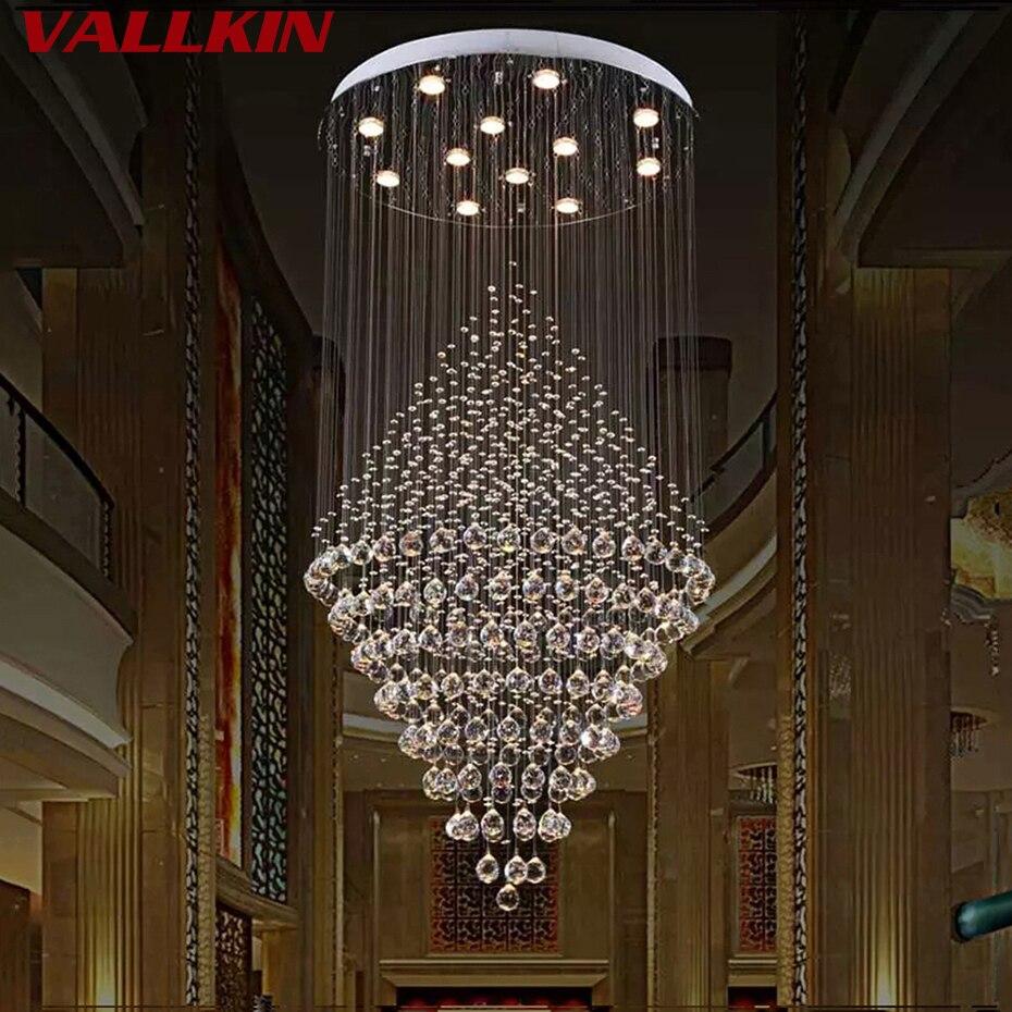 Современный хрустальные люстры роскошные люстры светильник подвесной свет люстры де Cristal лампы отель подвеска лампы освещения