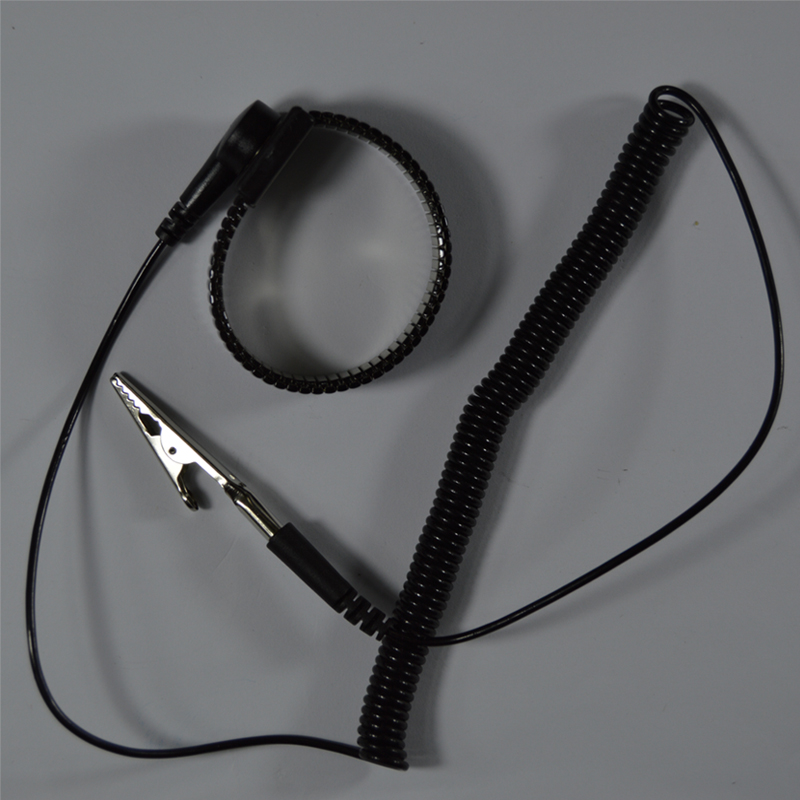 PU Anti static Wrist band Esd Wrist strap Black Metal Discharge Cord wire Clip for Electrician IC PLCC worke Free shipping st16c450cj plcc 44