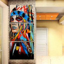 Native American Indian canvas art Painting
