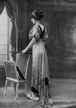 Les Modes (Paris) 1910 Robe de Diner par Redfern  Victorian dress satin dress Civil war dress Period dresses