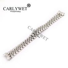 CARLYWET 20 มิลลิเมตร 316L สแตนเลสสตีล Jubilee เงิน Solid Screw Links นาฬิกาข้อมือสายคล้องปลายโค้งสร้อยข้อมือเข็มขัด