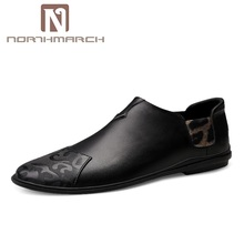 NORTHMARCH/Новая мужская кожаная повседневная обувь, лоферы, Мокасины, Мужская модная обувь из натуральной кожи для вождения, мужская обувь s Chaussures Hommes