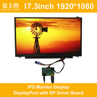 17.3 inch 1920*1080 IPS Monitor Display DisplayPort with DP Driver Board 1080P LCD Module Screen for Laptop PC New Original