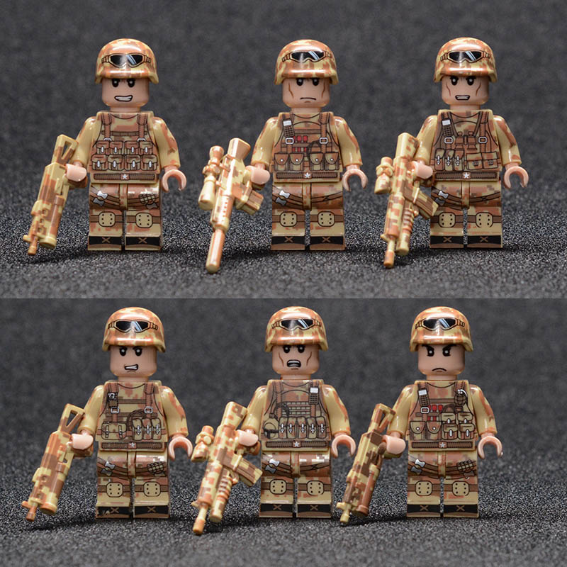 WW2 Military weapon gun soldier Set Army Building Blocks brick Kids Toys compatible legoings toys for children