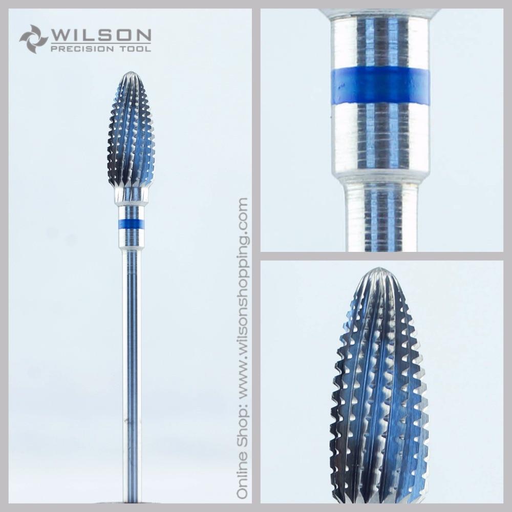 Straight Edge With Spiral Cut - Standard(5001206) - ISO 176 - Tungsten Carbide Burs - WILSON Carbide Nail Drill Bit&Dental Burs