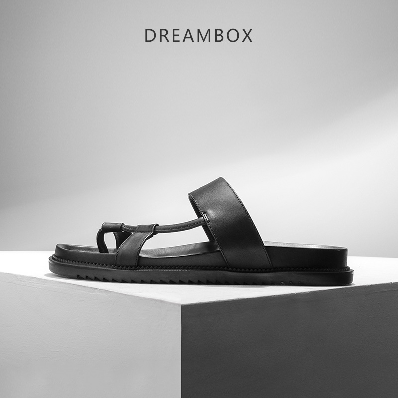 dreambox2017 Summer European and American leather Open toe foot beach men  slippers dreambox 800 hd крайот