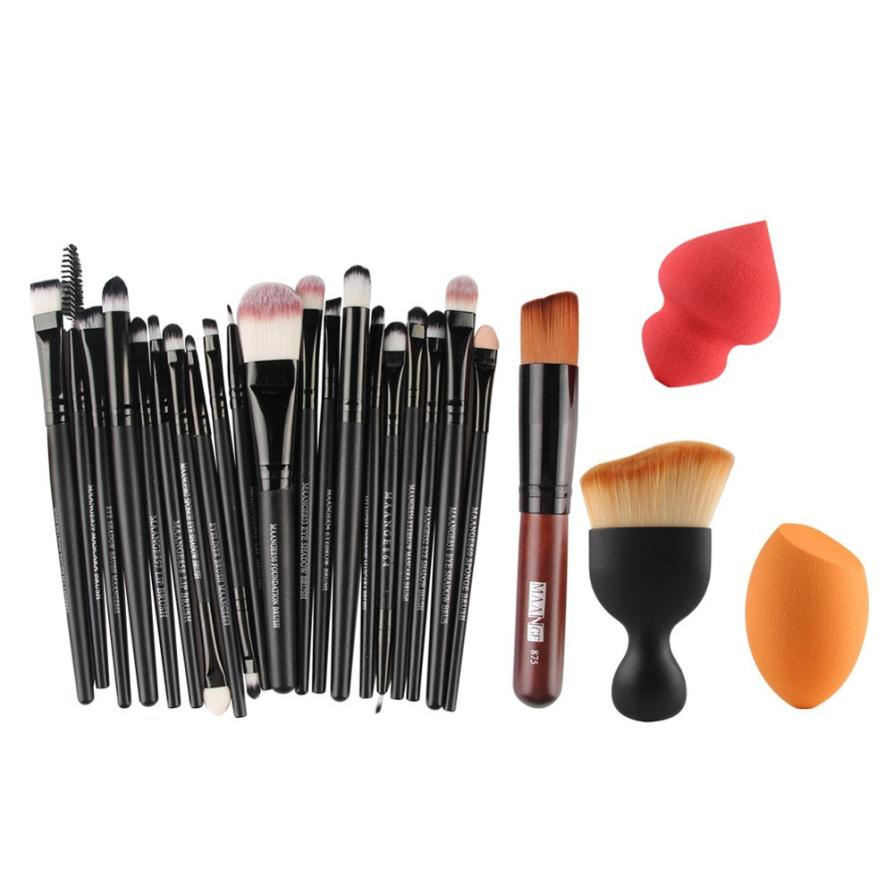 1set Hot Popular Cosmetic Makeup Brushes Concealer Eyeshadow Brush Set Professional Tool Kit Lip brochas maquiagem 9.26 4 pcs golden professional makeup brushes waistline sculpting brush set cosmetic tool maquiagem accessories with original box