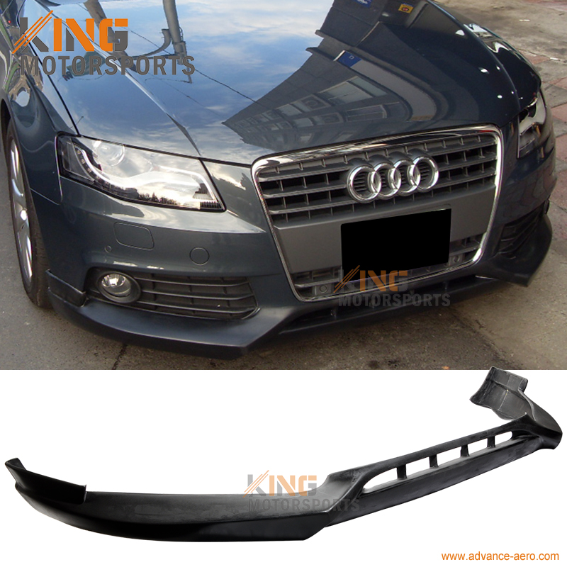 for 09 12 audi a4 b8 poly urethane front bumper lip. Black Bedroom Furniture Sets. Home Design Ideas