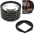 6 in 1 52mm Close-Up Lens Filter Macro Lens Filter + Filter Adapter Ring for GoPro HERO4 /3+