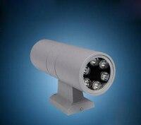 Free Shipping 2x6x1W LED Wall Light Double Down Waterproof Led Wall Lamp AC85 265V Waterproof IP68
