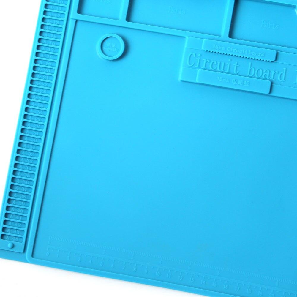 Image 5 - S 170 Insulation Pad Heat Resistant Silicon Soldering Mat 480mm X 318mm Working Pad Desk Platform Solder Rework Repair ToolsElectric Soldering Irons   - AliExpress