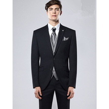 2017 Mucielee Terno Masculino Blazer costume homme black Mens Prom Suit Wedding Suits For Men 3