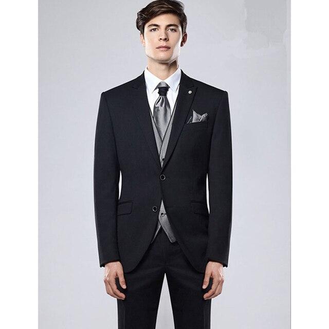 2017 Mucielee Terno Masculino Blazer costume homme black Mens Prom ...