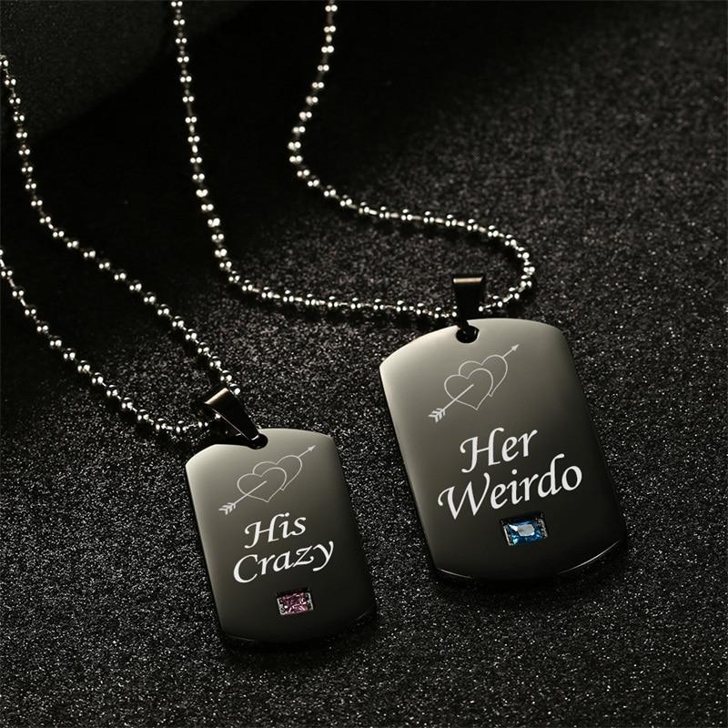 AZIZ-BEKKAOUI-Weirdo-Crazy-Stainless-Steel-Couple-Necklaces-with-Stone-Black-Tag-Pendant-Necklace-Promise-Jewelry (2)