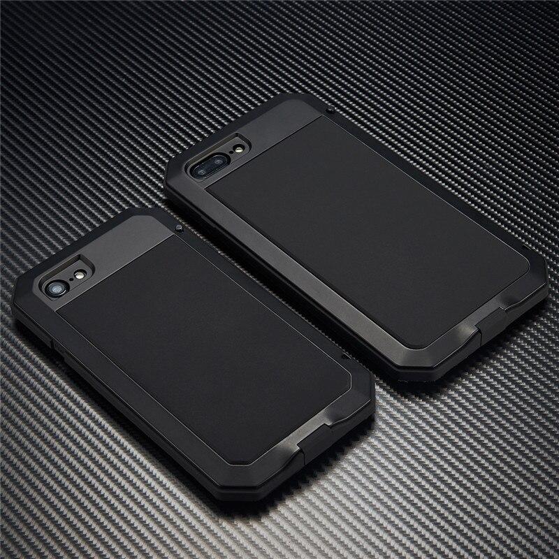Цена за Тяжелые Грязь Шок dropproof Металл алюминиевый противодетонационный мощный чехол для iPhone 7 плюс 5 5S SE 6 6S плюс 6 plus С Gorilla Glass