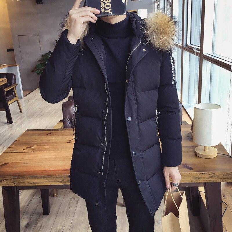 Ветровки мужские зимняя куртка 2018 мужские хлопчатобумажные мужские средней длины одежда на хлопковой подкладке A458 998 P120 - 2