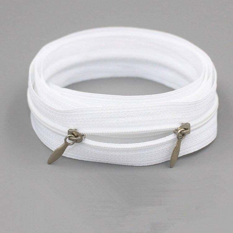 Cerniera in nylon colore: beige da 70 cm con estremit/à aperta