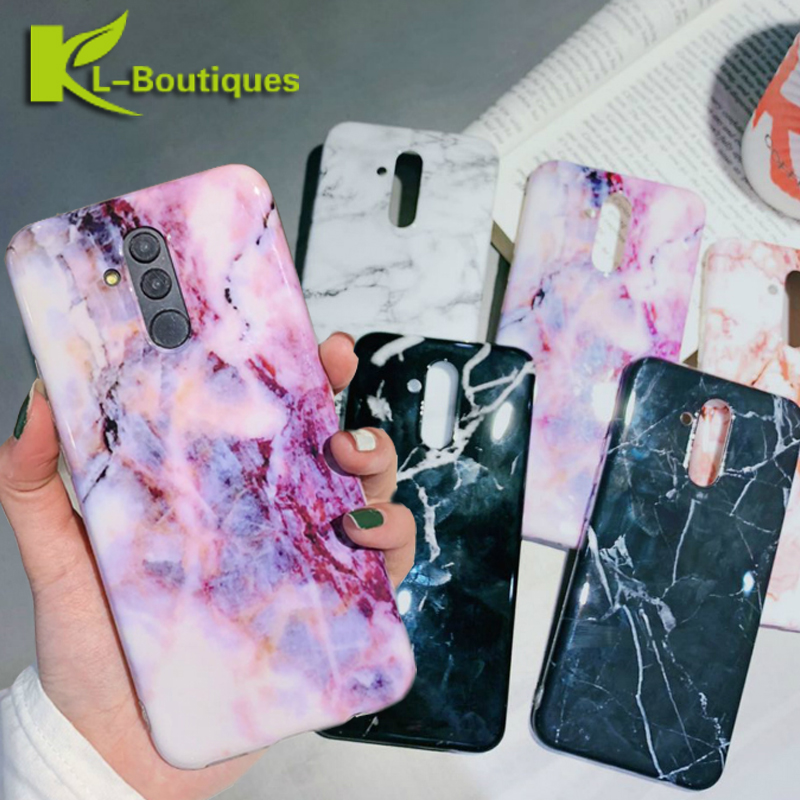 Huawei Mate 20 Lite Case Marble Back Cover on for Huawei Mate 20 Lite Mate 20 Pro Mate20Lite Mate20Pro Capa Luxury Phone Cases