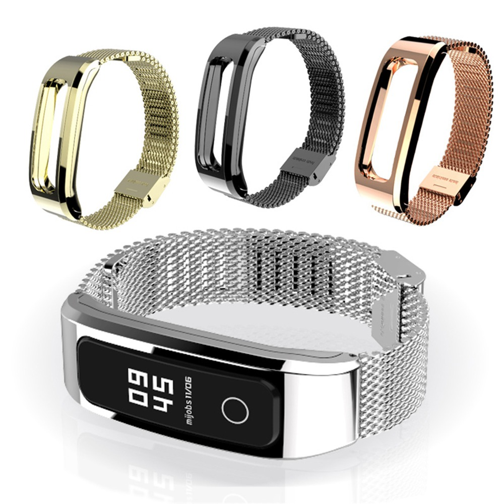 Strap With Magnetic Case For Huawei Honor Band 4 Running Version Smart Bracelet Stainless Watch Replaceable