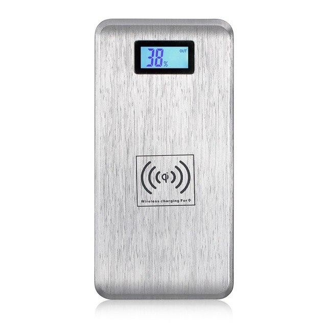 12000 мАч Power Bank Ци Беспроводной Зарядки Подставка Для Samsung S6 S7 Lumia 920 LG G3 Nexus 5 HTC iPhone Dual USB Беспроводной зарядное устройство