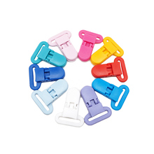 Chenkai 50PCS 25mm Baby Plastic Pacifier Clip Soother Holder Transparent  For Dummy Nipples