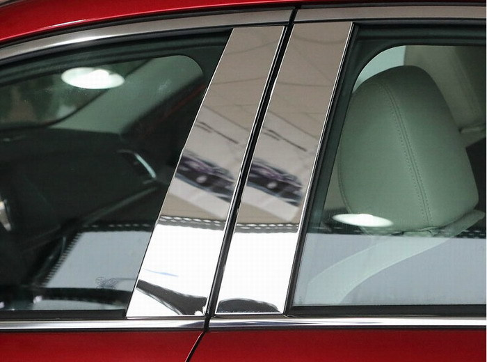 Auto window trim pillar trim for <font><b>Mazda</b></font> 6 2014 2015,stainless steel,6pcs/lot image