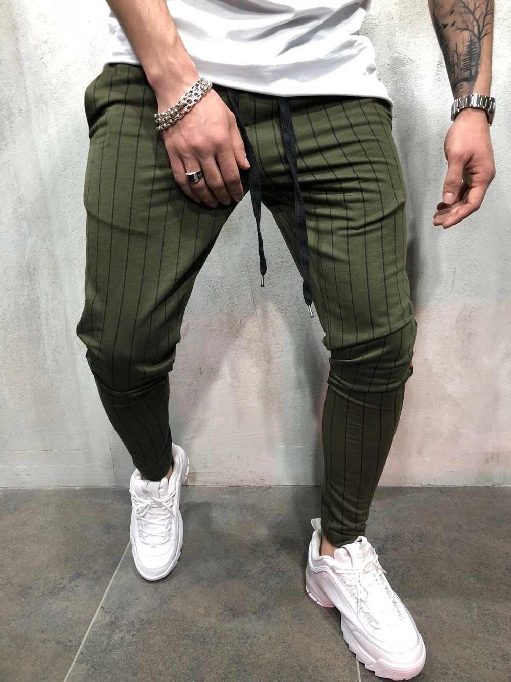 Yeni Marka baskı Erkekler Spor Sweatpants erkek Vücut Geliştirme egzersiz pamuklu pantolon Rahat Joggers spor kalem pantolon Erkekler