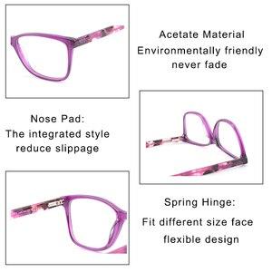 Image 4 - Kirka Purple Women Spectacles Frames Oversized Eyeglass Frames Clear Lens Glasses Optical Prescription Glasses Frame For Women