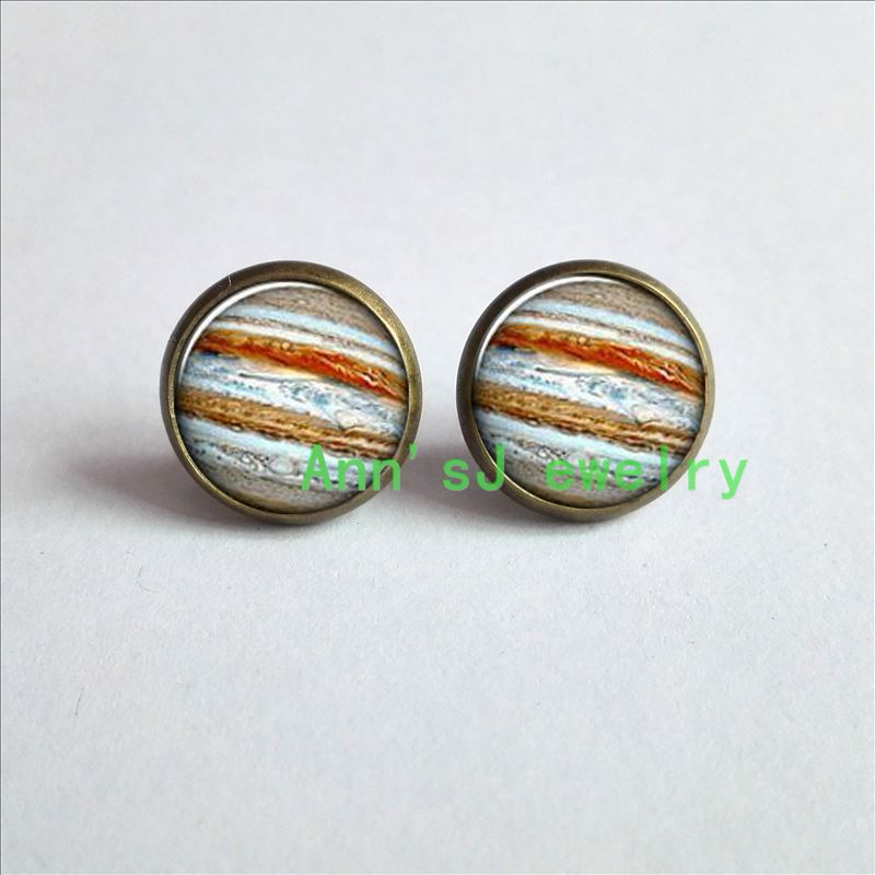 ES-00309 Jupiter Earrings Planet eardrops Universe Galaxy Science stud earrings Jewelry  ...