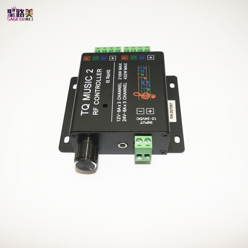 DC12-24V 18A RF Remote RGB led strip Music 2 Controller Խելացի - Լուսավորության պարագաներ - Լուսանկար 6