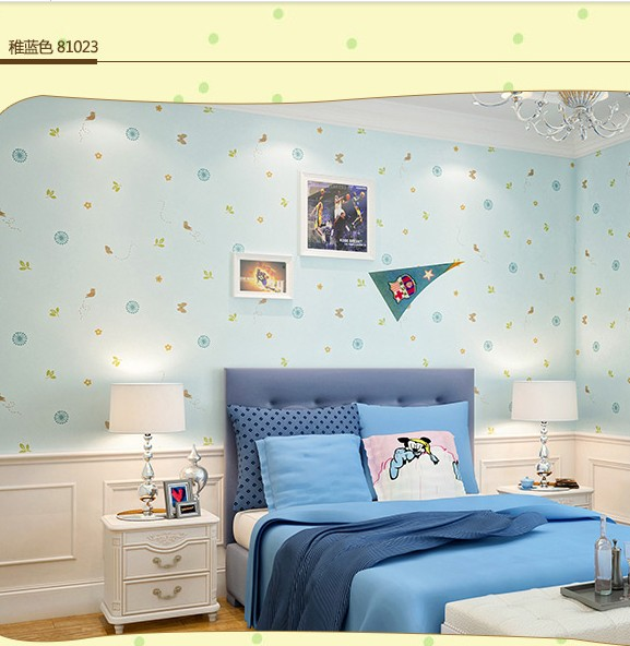 ФОТО Natural plant cartoon children room wall stickers Male girl lovely sweet bedroom Environmental protection non-woven wallpaper