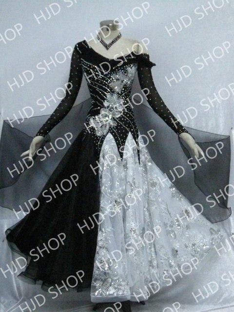 46dafa35 US $276.0 |Nowoczesne Waltz Tango Taniec Towarzyski Sukienka, gładka  Balowej Sukni, standardowy Ballroom Dress społecznej clohting taniec  dziewczyna ...