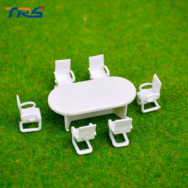5sets 150 scale model meeting table and chair set mianiture conference table sets for & 5sets 1:50 scale model meeting table and chair set mianiture ...
