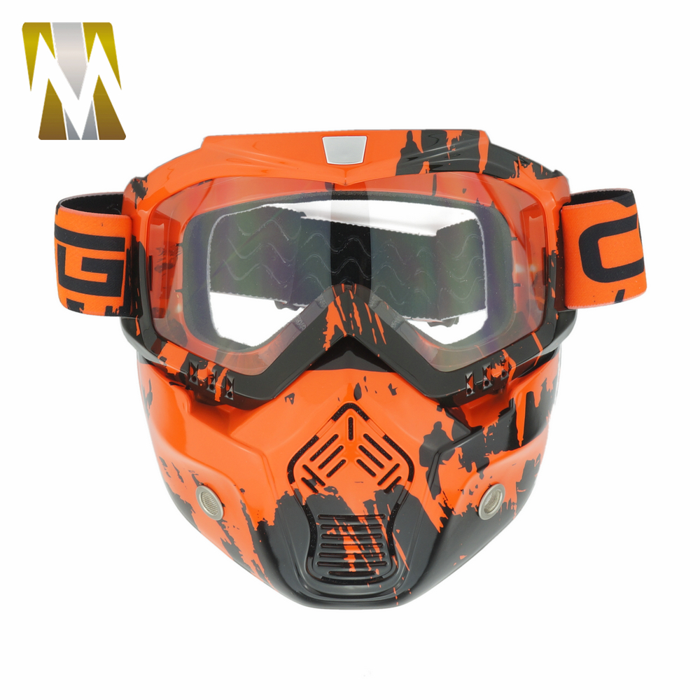 aa6460a48d Camouflage Ski Motorcycle Face Mask Goggles Helmet Motocross Dirt Bike Off  Road Cycling Face Detachable Goggle Glasses-in Motorcycle Glasses from ...
