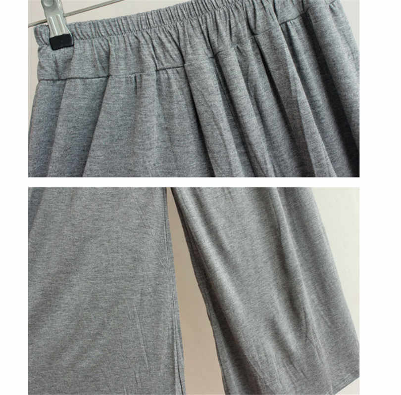 Baggy Broek voor Vrouwen Losse Broek plus size Koreaanse Stijl harem broek Goede Stretchy Comfort Katoen Linnen ouc409a