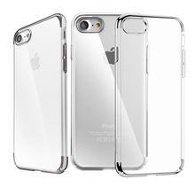Baseus Мода Блеск Дело Гальванических Рамка для iPhone 7 плюс Черный